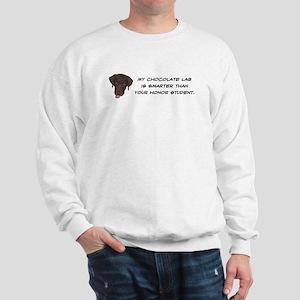 Smart Chocolate Labrador Sweatshirt