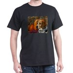 Beagle with pumkins Black T-Shirt