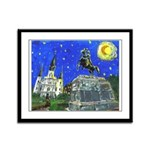 Starry Night French Quarter Framed Panel Print