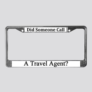 Travel Agent Occupations License Plate Frame