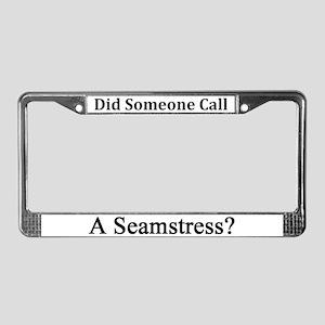 Seamstress License Plate Frame