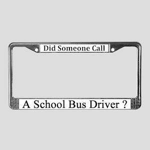 School Bus Driver License Plate Frame