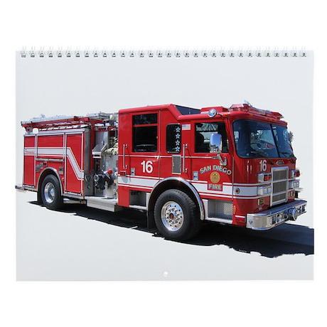Fire Equipment Wall Calendar