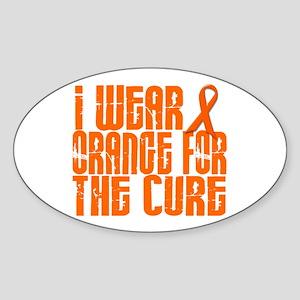 I Wear Orange For The Cure 16 Oval Sticker