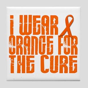 I Wear Orange For The Cure 16 Tile Coaster