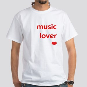 *FEATURED* | Music Lover | White T-Shirt