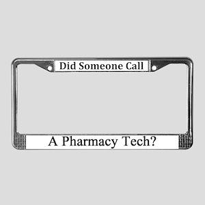 Pharmacy Tech License Plate Frame