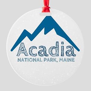 Acadia Round Ornament