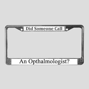 Opthalmologist License Plate Frame