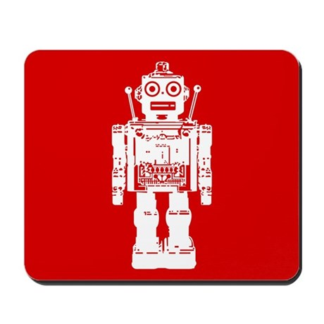 Red Robot Mousepad