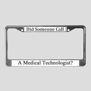 Medical Technologist License Plate Frame