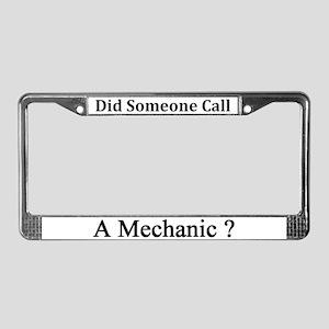 Mechanic License Plate Frame