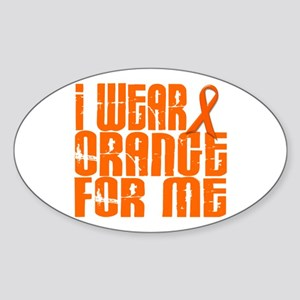 I Wear Orange For Me 16 Oval Sticker