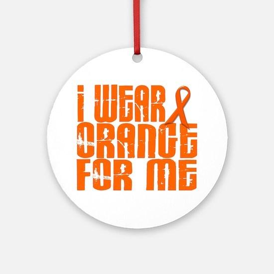 I Wear Orange For Me 16 Ornament (Round)