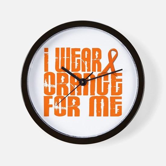 I Wear Orange For Me 16 Wall Clock