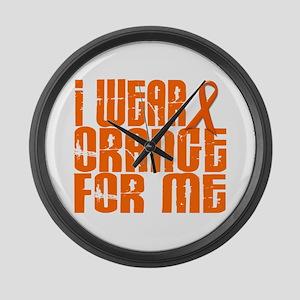 I Wear Orange For Me 16 Large Wall Clock