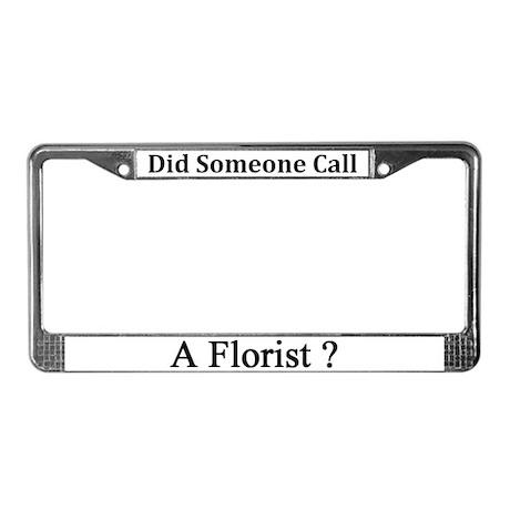 Florist License Plate Frame