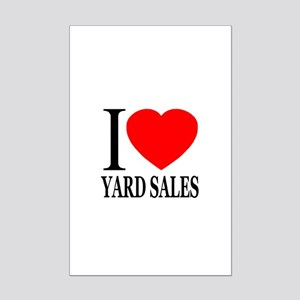 I Love Yard Sales Mini Poster Print