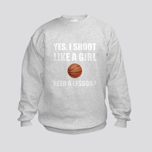 Like A Girl Basketball Sweatshirt