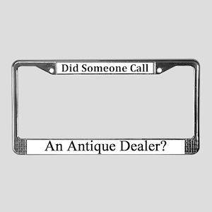 Antique Dealer License Plate Frame