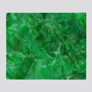 Green Marble Texture Throw Blanket