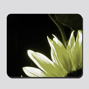 Yellow Corner Sunflower Mousepad
