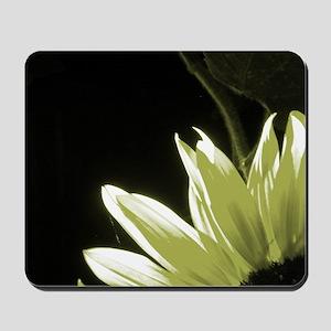Yellow Corner Sunflower Mousepad