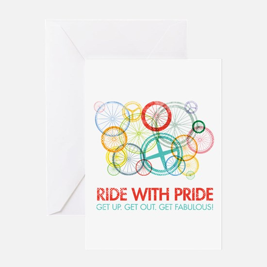 Iowa Ride With Pride Greeting Card
