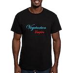 Vegetarian Vampire Men's Fitted T-Shirt (dark)