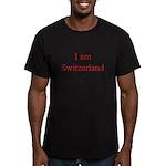 I am Switzerland Men's Fitted T-Shirt (dark)