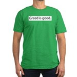 Gordon Gecko Greed is Good Men's Fitted T-Shirt (d