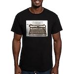 Typewriter Men's Fitted T-Shirt (dark)