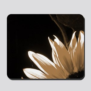 Sepia Toned C Sunflower Mousepad