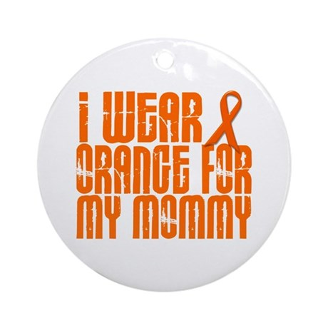 I Wear Orange For My Mommy 16 Ornament (Round)