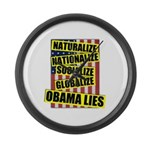 Obamalize Large Wall Clock