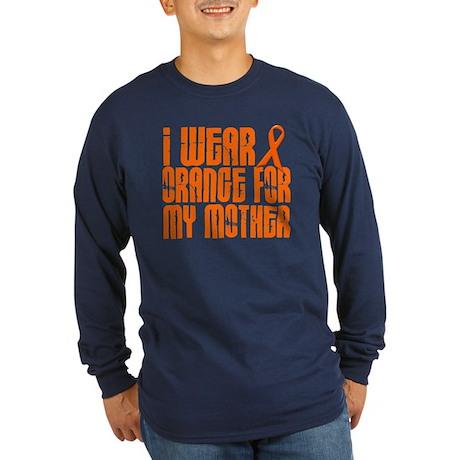 I Wear Orange For My Mother 16 Long Sleeve Dark T-