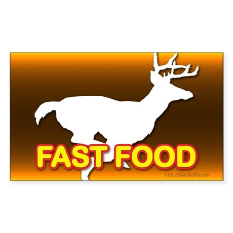 Fast Food... Rectangle Sticker