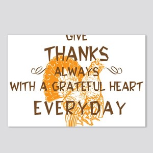 Happy Thanksgiving Day Postcards (Package of 8)