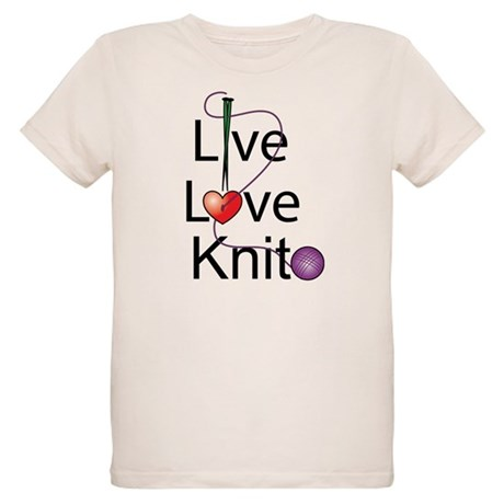 Live Love KNIT Organic Kids T-Shirt