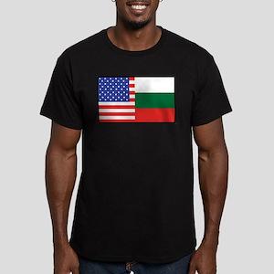 USA/Bulgaria Men's Fitted T-Shirt (dark)