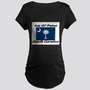 Isle of Palms South Carolina Maternity Dark T-Shir