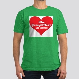 Grandma Loves Me (French) Men's Fitted T-Shirt (da