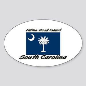 Hilton Head Island South Carolina Oval Sticker