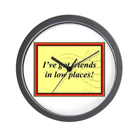 """Friends In Low Places"" Wall Clock"