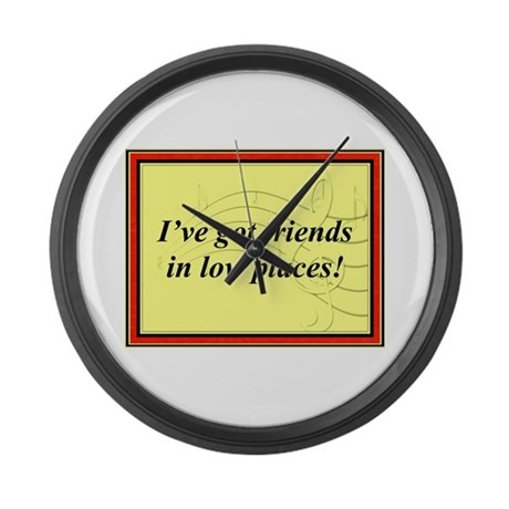 """""""Friends In Low Places"""" Large Wall Clock"""