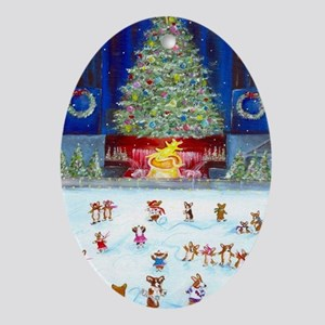 Christmas Tree At Corgifeller Oval Ornament