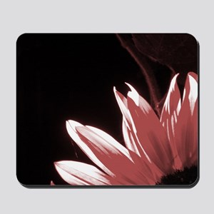 Red Corner Sunflower Mousepad