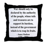 James Madison 10 Throw Pillow