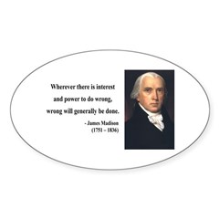James Madison 11 Oval Decal