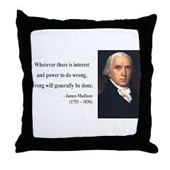 James Madison 11 Throw Pillow